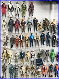 1977 To 1984 Vintage Star Wars First 80 Released Different Action Figures + Case