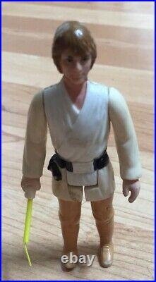 1977 Vintage Kenner Star Wars Brown Hair Farmboy Luke Skywalker Action Figure