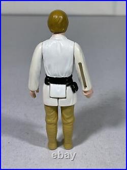 1977 Vintage Kenner Star Wars Brown Olive Hair Farmboy Luke Skywalker Figure CC