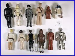 1977 Vintage Star Wars First 12 Action Figures Original Figure Lot all 12 ANH