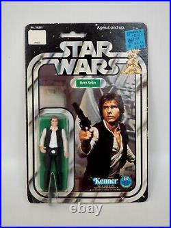 1978 Star Wars Han Solo Vintage Kenner Action Figure MOC, Small Head, 12 Back A