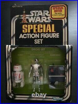1978 Vintage Kenner Star Wars Droid Set Action Figure 3-Pack R5-D4 DSD Gonk MIB