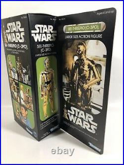 1978 Vintage Kenner Star Wars Large Size C-3po See-threepio 12 Figure Repro Box