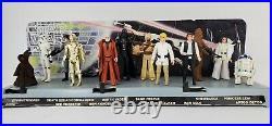 1978 Vintage Star Wars 12 Back Complete Figure Set 1st Series Mail Display Stand