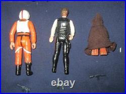 1979 1st 13 Vintage Star Wars Kenner Figures Luke Darth Vader Lea Jawa / Weapons