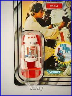 1979 Star Wars R5-D4 Vintage Kenner Action Figure Droid 20E Back MOC, Sealed