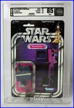 1979 Vintage Star Wars 21 Back-C Power Droid Action Figure AFA 85 NM #5005685