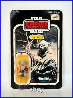 1980 Star Wars ESB Yoda Vintage Kenner Action Figure 32B Back MOC, Unpunched