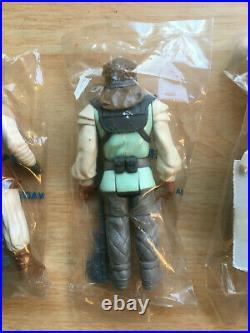 1983 Kenner Star Wars ROTJ Jabba Dungeon Vintage Baggie figures Nikto 8D8 Klaatu