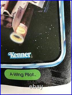 1984 Vintage Kenner STAR WARS action figure POTF A-Wing Pilot MOC Unpunched