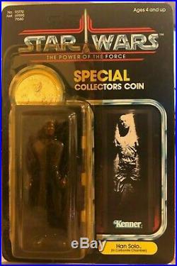 1984 Vintage Star Wars POTF Han Solo Carbonite Action Figure Unpunched MOSC