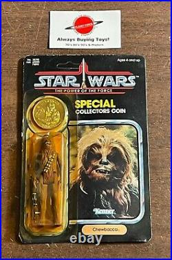 1985 Chewbacca MOC POTF with Coin 92 Back Vintage Star Wars Kenner Carded Figure