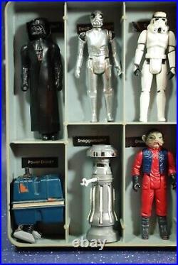 25 VINTAGE Star Wars ACTION FIGURES LOT VINYL COLLECTORS CASE KENNER figure