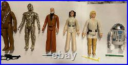 36 Vintage Star Wars Figures Lot With Case + Weapons Kenner 1977 1985 1st 12