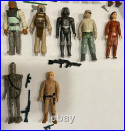 57 Vintage Star Wars Figure Lot WithWeapons and Case 1977-1984 Complete 1st 12