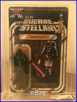 AFA 75 1978 Vintage Harbert 12back Star Wars Darth Vader Action Figure MOC Grail