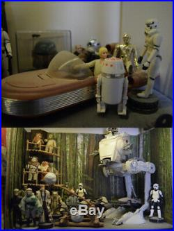 Collection of Vintage Kenner Star Wars figures and vehicles