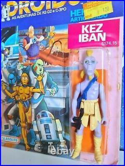 Glasslite Kez Iban Vintage Star Wars Droids Figure Sealed Moc Brazil 80's