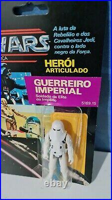 Glasslite Snowtrooper Vintage Star Wars Figure Perfect Card And Open Blister
