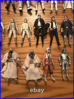Huge Star Wars The Vintage Collection Lot 50 Figures And Vehicles Collection