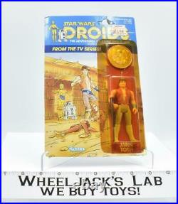 Jann Tosh Coin MOSC Sealed Star Wars Droids 1985 Vintage Kenner Action Figure