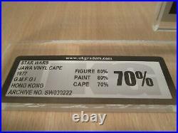 Jawa Vinyl Cape Star Wars Figur von Kenner 1977 UKG 70 % vintage no AFA