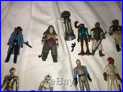 KENNER STAR WARS VINTAGE LOT 31 LOOSE COMPLETE FIGURES-Han Solo-Vader Case
