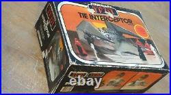 Kenner 1983 Star Wars TIE Interceptor ROTJ Boxed Vintage Kenner Figures Play Set