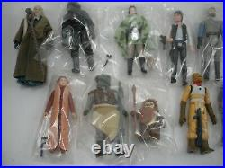 LOT OF 12 Vintage Star Wars FIGURES COMPLETE With WEAPONS ALL ORIGINAL PCS