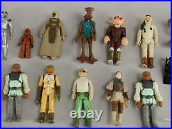 Lot 40 VTG Star Wars Action Figures 1970s 80s Boba Fett, Max Rebo, Leia, C-3PO++