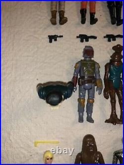 Lot 60 Vintage Kenner Star Wars Figures Weapons Blue Snaggletooth Leia Yoda Fett