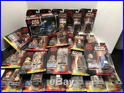Lot of 32 Star Wars Episode I Action Figures Hasbro Commtech Vintage Phantom 1