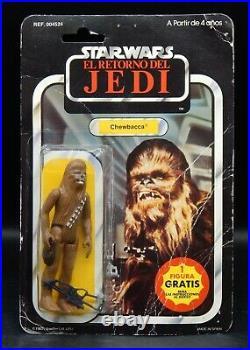 PBP vintage CHEWBACCA Star Wars MOC action figure El Retorno Del Jedi RARE Spain