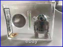 R2D2 POP UP SABRE UKG 90/90/90 graded vintage Star Wars figure, gold ukg afa