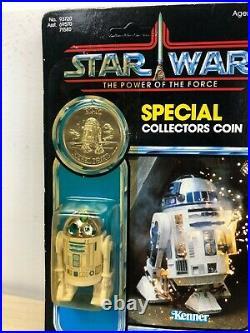R2-D2 with Pop-Up Lightsaber MOC Carded Vintage Star Wars Figure Kenner Last 17