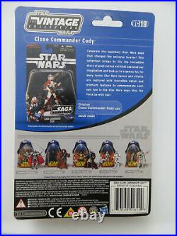 STAR WARS ROTS Vintage Collection Clone Commander Cody Figure VC19 MOC FOIL C-9+