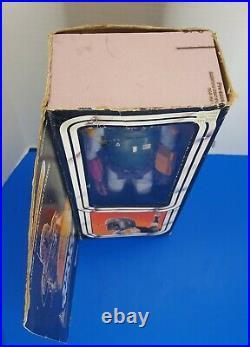 STAR WARS Rare Vintage BOBA FETT 12 LARGE FIGURE Wookie Braids Gun Box Kenner
