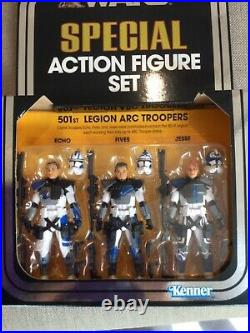 STAR WARS VINTAGE COLLECTION 501st CLONE SPECIAL ACTION FIGURE SET MINT