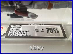 STAR WARS vintage Boba Fett action figure Tri-Logo up knee no AFA UKG 75 / 80 %