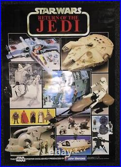 STUNNING VTG Star Wars PALITOY John Menzies ROTJ FigureShip Collection POSTER