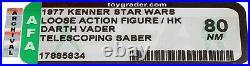 Star Wars 1977 Vintage Kenner DT Darth Vader (HK) Loose Action Figure AFA 80