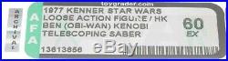 Star Wars 1977 Vintage Kenner DT Obi-Wan Kenobi (HK) Loose Action Figure AFA 60