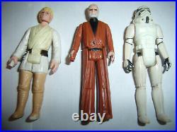 Star Wars 1977 Vintage Original First 12 Kenner Action Figure Lot-Luke, Vader++