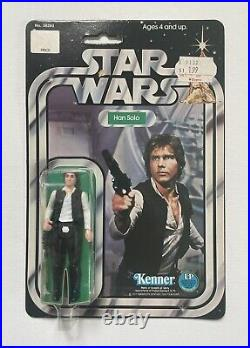 Star Wars ANH 1977 Han Solo 12 Back-C Vtg MOC Small Head Kenner Action Figure