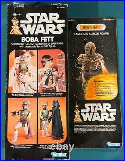 Star Wars Boba Fett Vintage Kenner 12-inch Large Action Figure 1979 No 39140 Box