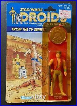 Star Wars Droids Vintage 1985 Jann Tosh Figure MOC New Sealed on Nice Card