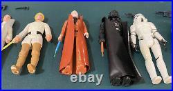 Star Wars Kenner Vintage 1977 12 Back Complete Figure Set Lettered Hilt