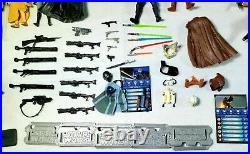 Star Wars Lot Of 50 Action Figures Vintage Weapons and Accessories Hasbro