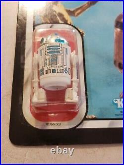 Star Wars ROTJ R2D2 MOC Signed Kenny Baker Figure Vintage Carded Jedi C3PO