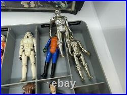 Star Wars Vintage 1977 Original Kenner Action Figure Lot with Vinyl Case 1978